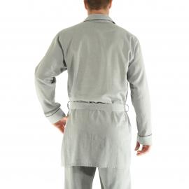 Pyjaveste Gabriel Christian Cane en coton gris à motifs chevrons