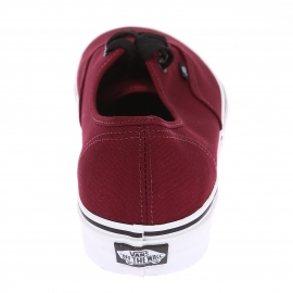 Baskets Vans Authentic en toile bordeaux à semelles blanches
