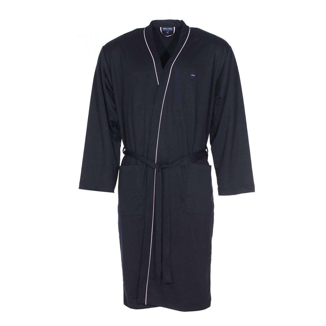 robe de chambre eden park en coton bleu nuit rue des hommes. Black Bedroom Furniture Sets. Home Design Ideas