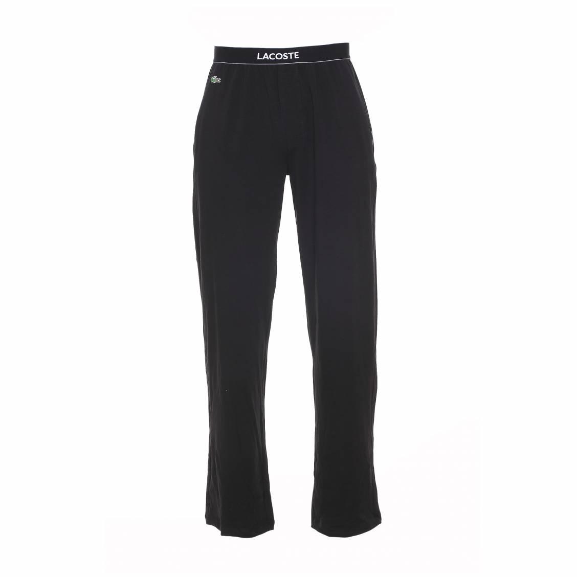 pantalon d 39 int rieur colours lacoste en coton stretch noir rue des hommes. Black Bedroom Furniture Sets. Home Design Ideas