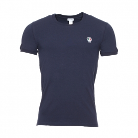 Tee-shirt col rond et manches courtes Dolce & Gabbana en coton stretch bleu marine