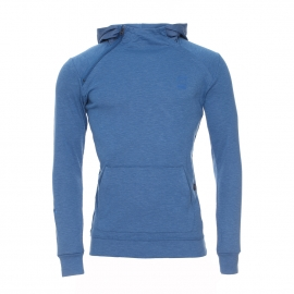 Sweat à capuche Mikan G-Star en coton flammé bleu indigo