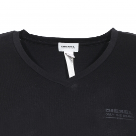Tee-shirt Diesel col V stretch noir