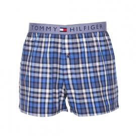 Caleçon Jerry Tommy Hilfiger en nylon à carreaux blancs et bleus