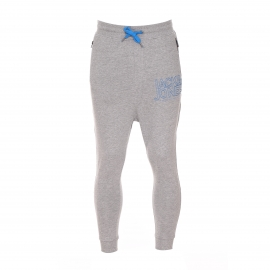Pantalon de jogging Core by Jack & Jones en coton gris clair avec inscriptions brodées