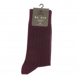 Chaussettes Arthur en laine bordeaux