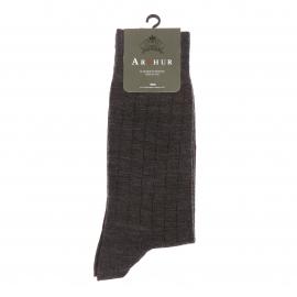 Chaussettes Arthur en laine gris foncé