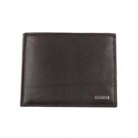 Grand portefeuille italien Calvin Klein Jeans en cuir lisse noir