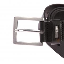 Ceinture Calvin Klein Jeans en cuir noir à boucle classique