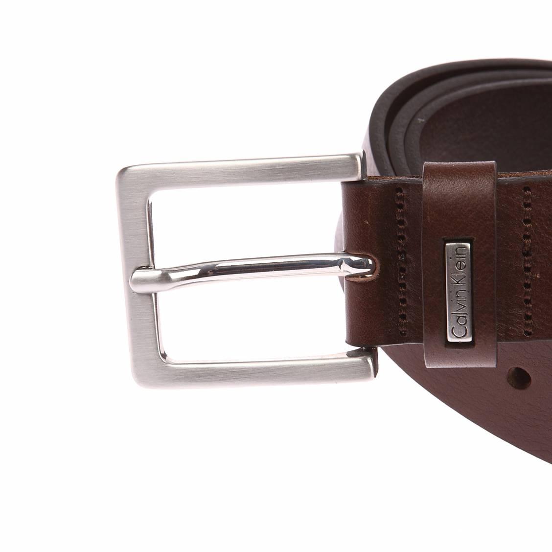 Ceinture Calvin Klein Jeans Mino Belt 3 en cuir marron à boucle ... ef7d8ef7550