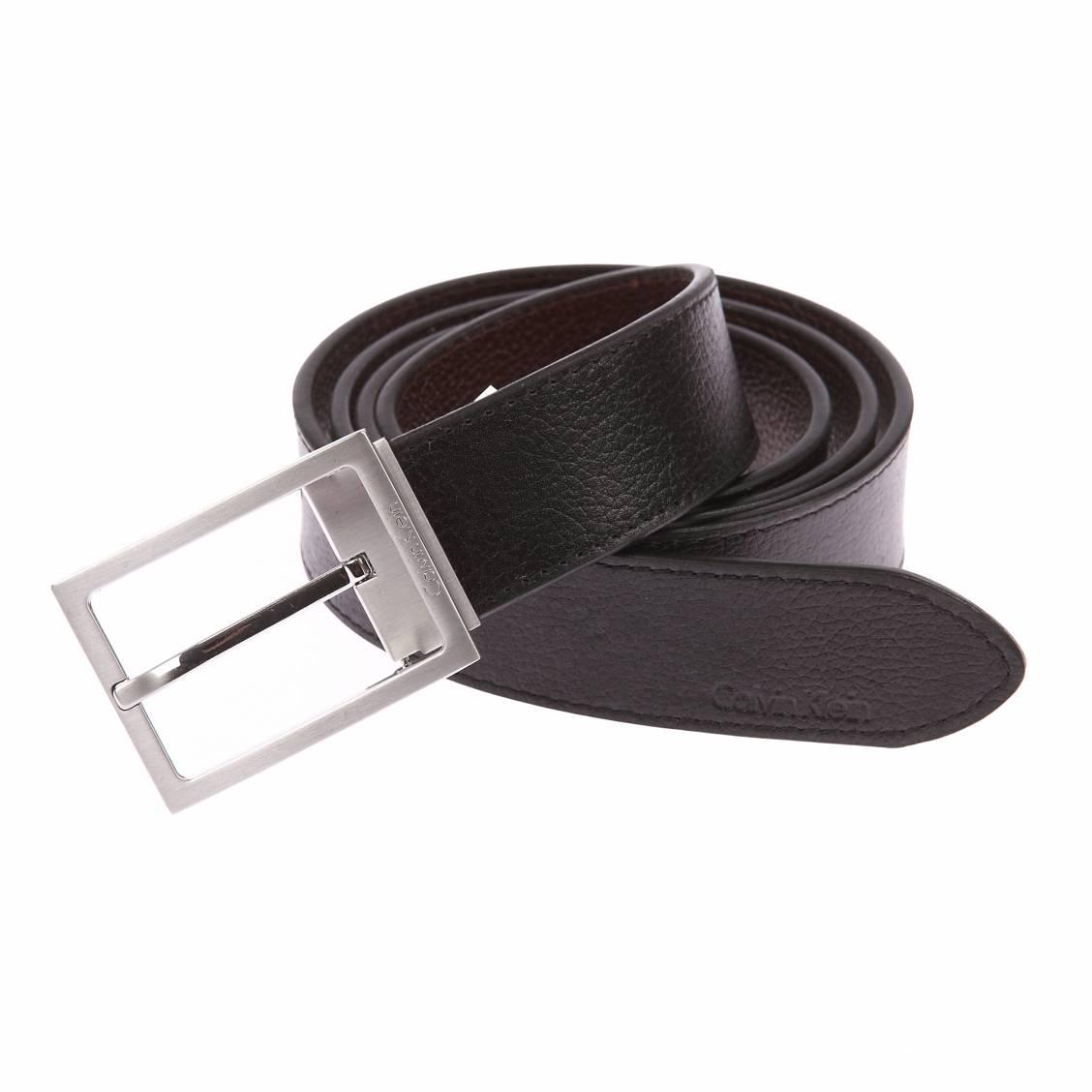 coffret ceinture ajustable calvin klein jeans en cuir. Black Bedroom Furniture Sets. Home Design Ideas