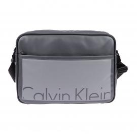 Besace Cruise Calvin Klein Jeans en simili cuir gris foncé