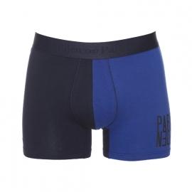 Boxer Eden Park en coton stretch bicolore noir et bleu