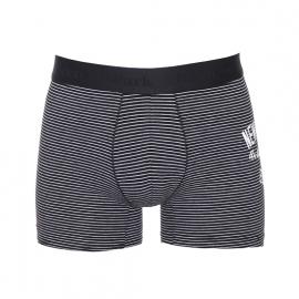 Boxer Eden Park New Zealand en coton stretch noir à fines rayures horizontales blanches