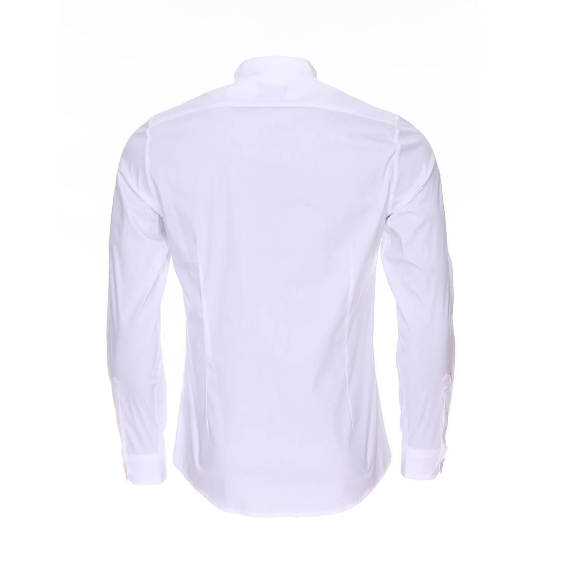 chemise cintr e c r monie antony morato en coton stretch blanc col cass et boutonni re. Black Bedroom Furniture Sets. Home Design Ideas