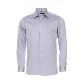 Chemise coupe droite Jean Chatel en coton gris clair