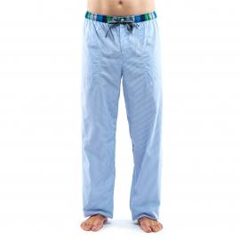 Pantalon d'intérieur Arthur en coton à rayures verticales bleu ciel et blanches