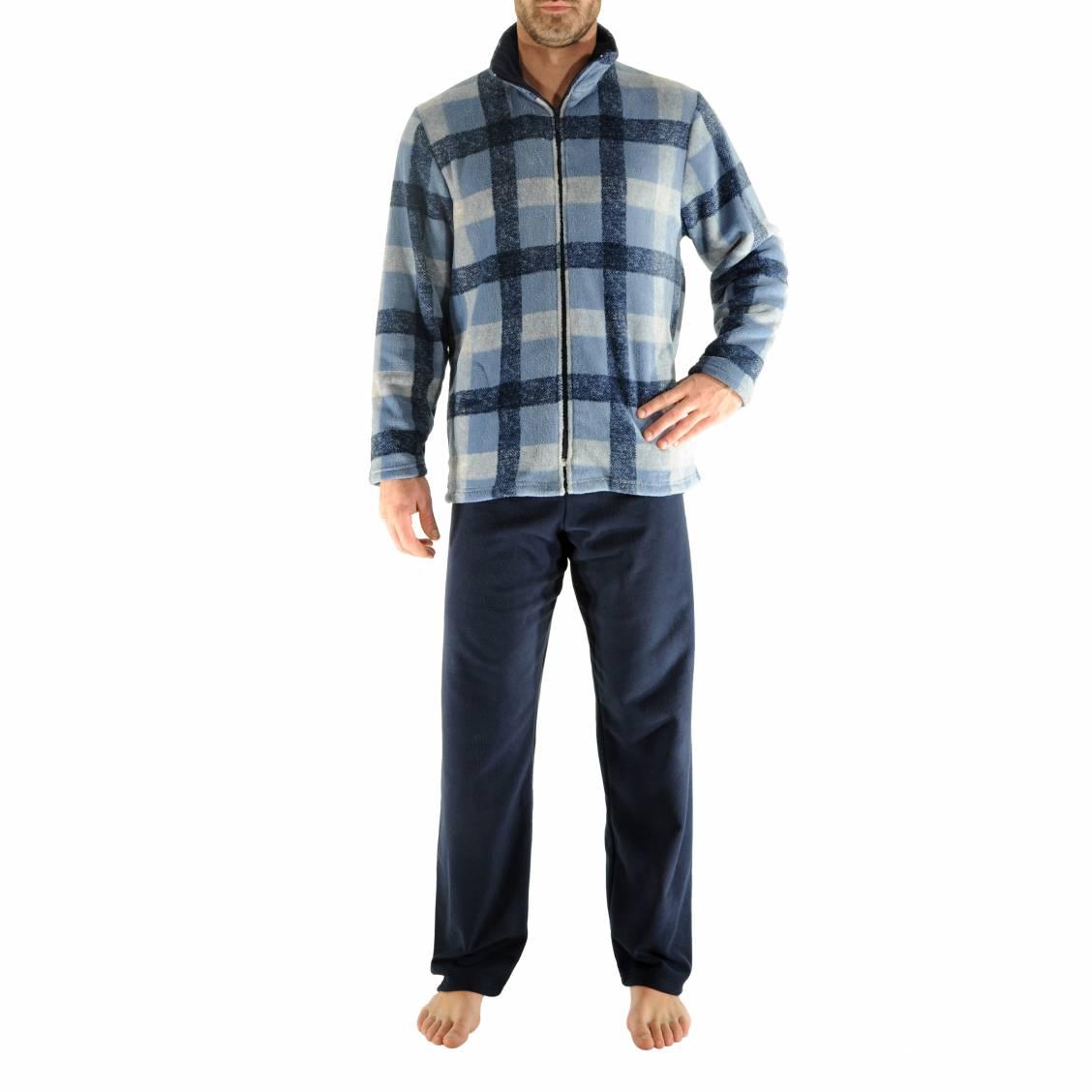 Pyjama chaud givry christian cane veste zipp e for Pyjama a carreaux