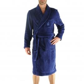 Robe de chambre Kévin Christian Cane bleu indigo
