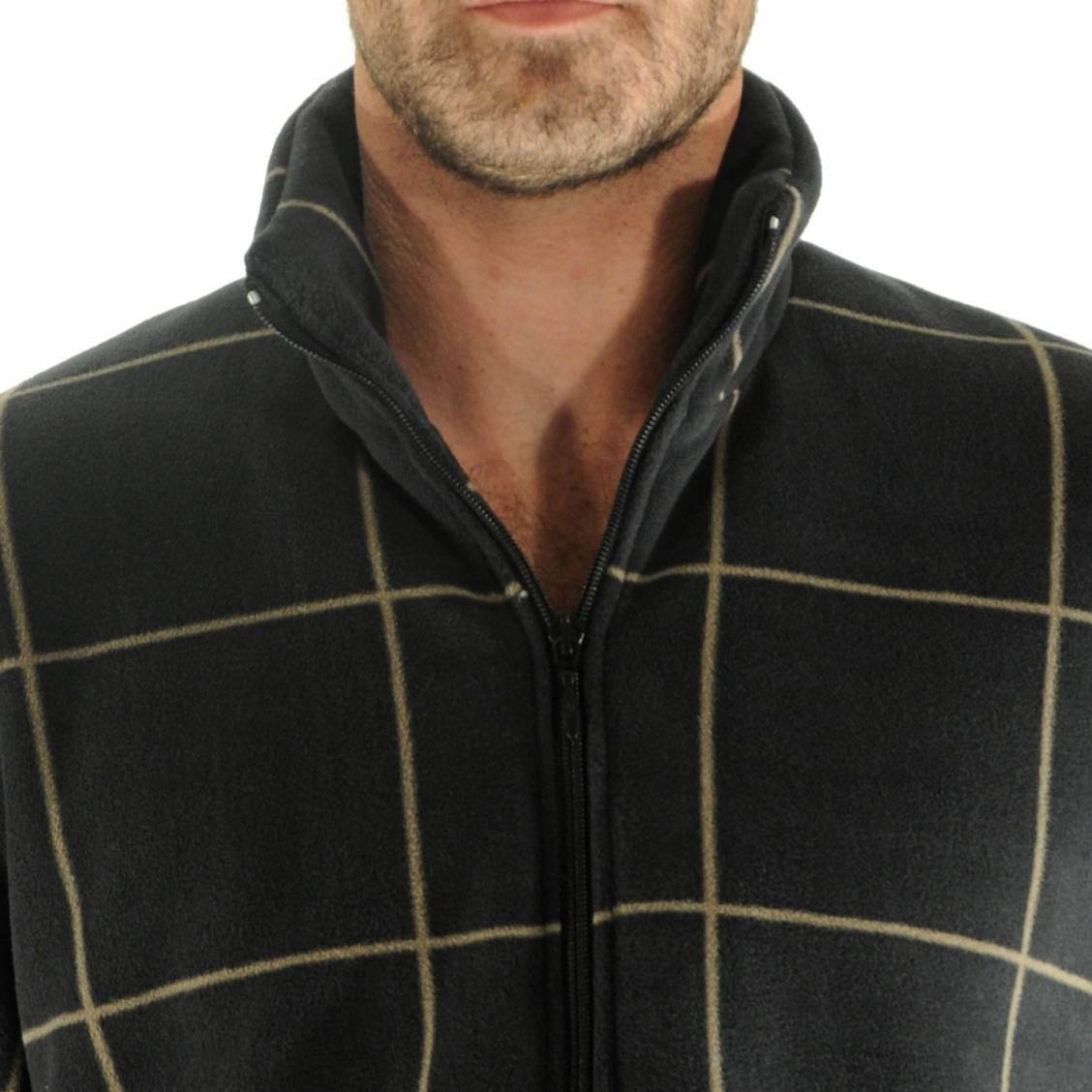 Veste d 39 int rieur zipp e gr goire christian cane noire for Veste noir interieur ecossais