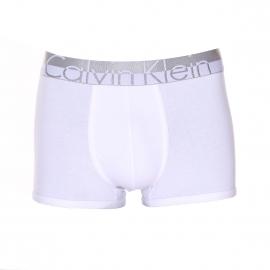 Boxer Calvin Klein en coton stretch blanc à ceinture élastiquée grise