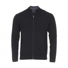 Cardigan zippé Armor Lux en laine noire