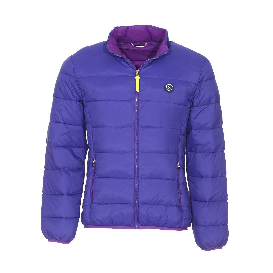 Doudoune zippée  violette