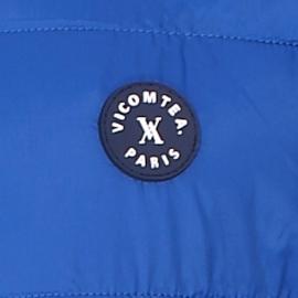 Doudoune zippée Vicomte A bleu électrique