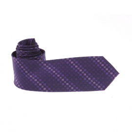 Cravate Pierre Cardin à carreaux violets