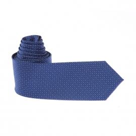 Cravate Pierre Cardin bleue à motifs blancs et bleu clair