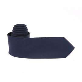Cravate Pierre Cardin réversible : 1 côté uni bleu marine et 1 côté à fines rayures bleu marine et bleu nuit