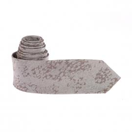 Cravate Pierre Cardin en soie grise mouchetée