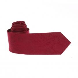 Cravate Pierre Cardin en soie rouge à motifs cachemire