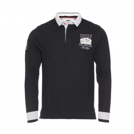 Polo manches longues Black Wellis