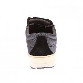 Baskets NY Runner Levi's en cuir suédé noir et en tissu gris à détails en cuir camel