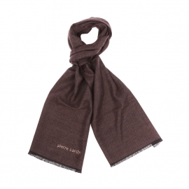 Echarpe Pierre Cardin en viscose marron chiné