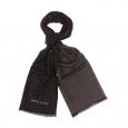 Echarpe Pierre Cardin en viscose noire à rayures et pois gris