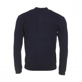 Cardigan boutonné Marc O'Polo en coton flammé bleu marine