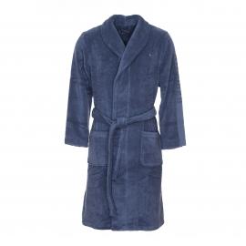 Peignoir de bain Tommy Hilfiger en coton bleu indigo