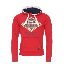 Sweat à capuche Petrol Industries rouge floqué d'un logo vintage