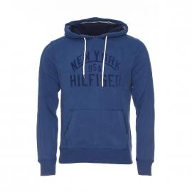Sweat à capuche Niek Tommy Hilfiger en coton bleu indigo
