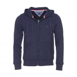 Sweat zippé à capuche Simon Tommy Hilfiger en coton bleu marine