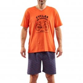 Pyjama court Arthur Cycle : Tee-shirt manches courtes