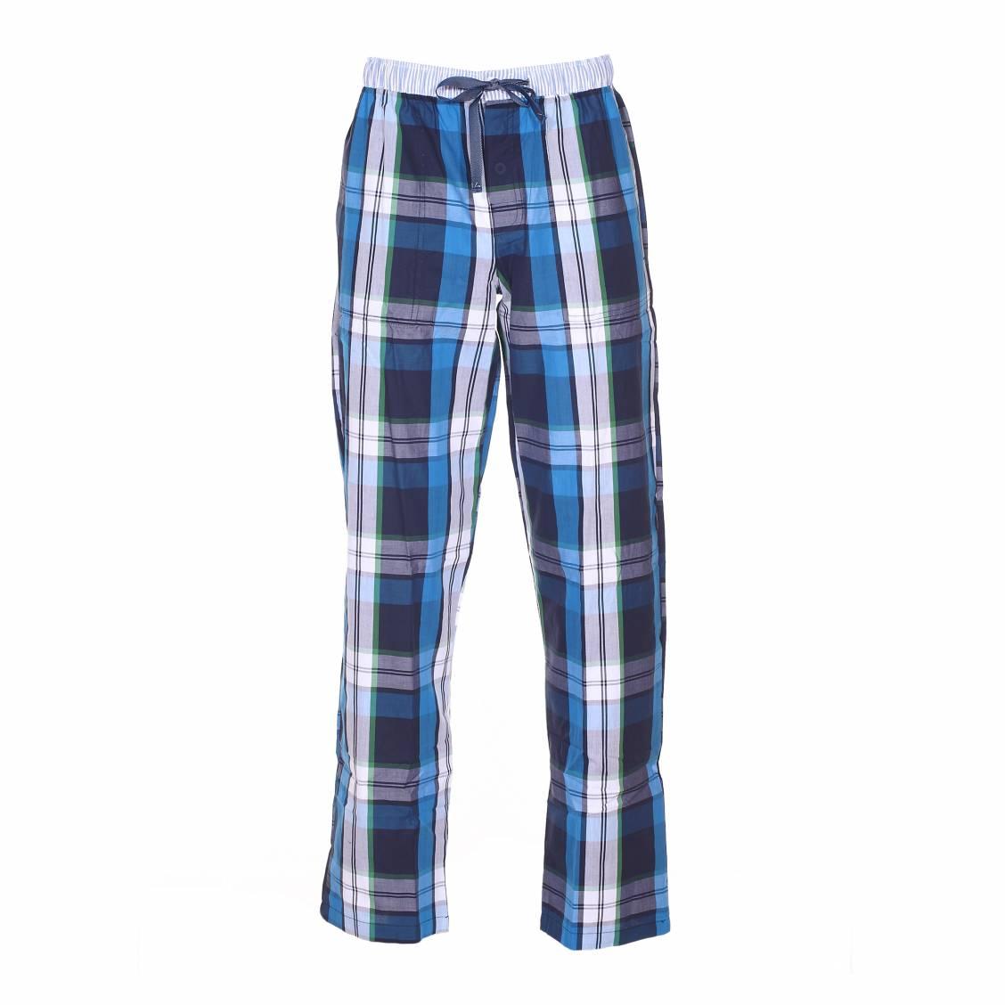 pantalon d 39 int rieur arthur gaspard carreaux bleus verts blancs et gris rue des hommes. Black Bedroom Furniture Sets. Home Design Ideas