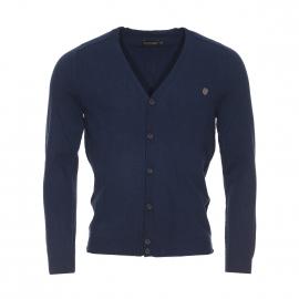 Cardigan Antony Morato bleu marine en laine et cachemire