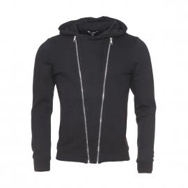 Sweat à capuche Antony Morato en coton noir à double zip