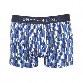 Boxer Tommy Hilfiger en coton stretch monogrammé en bleu, gris et blanc