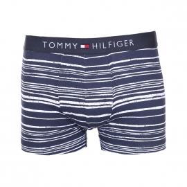 Boxer Tommy Hilfiger en coton stretch bleu marine à rayures horizontales blanches