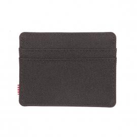 Porte-cartes Herschel Charlie en tissu noir