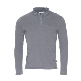 Polo léger Casimir Harris Wilson 100% coton gris chromé
